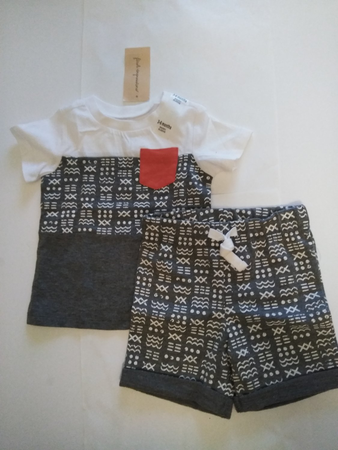 First Impression Baby's Multi Color  Tee Shirt & Short 100% Cotton - 3-6 Months