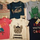 First Impression 6 Piece Set Baby's  Multi Color Tee Shirts - 3-6 Months