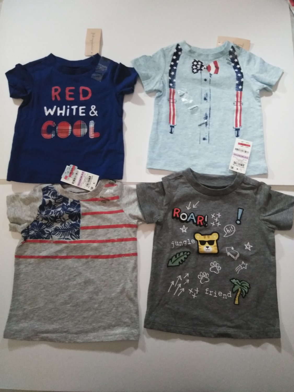 First Impression 4 Piece Set Baby's Tee Shirts 6-9 Months