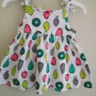 First Impression Baby Girl's Sleeveless Fruit Print Dress - 0-3 / 3-6 Months