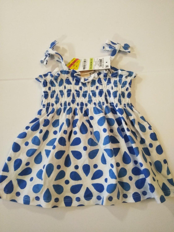 First Impression Baby Girl's Sleeveless Knit Dress -Palace Blue - 0-3 M