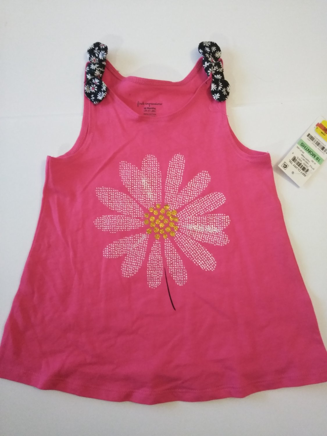 First Impression Baby Girl's Embroidered Dress - Fiery Pink -6-24 M