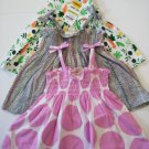 3 First Impression Baby Girl's Knit String Strap Multi Color Dress - 0-3 Months