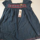 Calvin Klein Baby's Embroidered Blue  Denim Dress Size  3T / 5 / 6