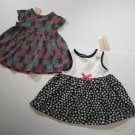 2 First Impression Baby Girl's Multi Color Dresses 100% Cotton - 3-6 M