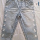 FIRST IMPRESSION BABY GIRL'S LIGHT WASH EMBROIDERED DENIM PANT