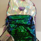 "DISNEY  KID'S GREEN SEQUIN 16"" MERMAID BACKPACK"