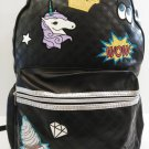 CHILDREN'S WOW  BLACK PU LEATHER BACKPACK