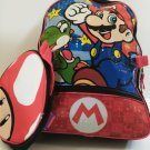 "DISNEY'S SUPER MARIO 16"" BACKPACK WITH LUNCH PACK - RED"