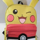 "POKEMON PIKACHU 16"" BACKPACK WITH PUFF POCKET COLOR - YELLOW"