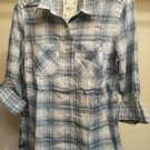 STYLE & CO WOMEN'S LONG SLEEVE BUTTON FRONT PRINT SHIRT-SIZE- X S