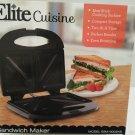 ELITE CUISINE NON STICK SANDWICH MAKER
