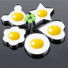 Egg Rings Fried Egg Molds Stainless Steel Egg Shaper Pancake Maker with Handle Different Shapes