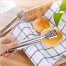 Set of 2 Bread Tongs Serving Tongs Stainless Steel for Salads Barbecue Toast Bread Pastry Sandwich