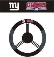 NY GIANTS POLY-SUEDE STEERING WHEEL COVER