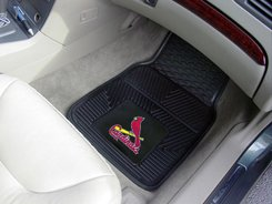 CARDINALS 2 PIECE VINYL FLOOR MATS  FREE SHIPPING