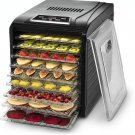 Premium Countertop Food Dehydrator 9 Drying Shelves Digital Thermostat Preset Temperature