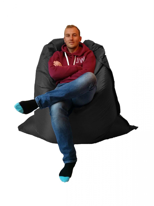 Extra Large Giant Indoor- Outdoor Beanbag (Black) MASSIVE 180x140cm