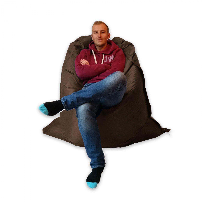 Extra Large Giant Big Beanbag Indoor & Outdoor Huge Chocolate Brown- MASSIVE 180x140cm