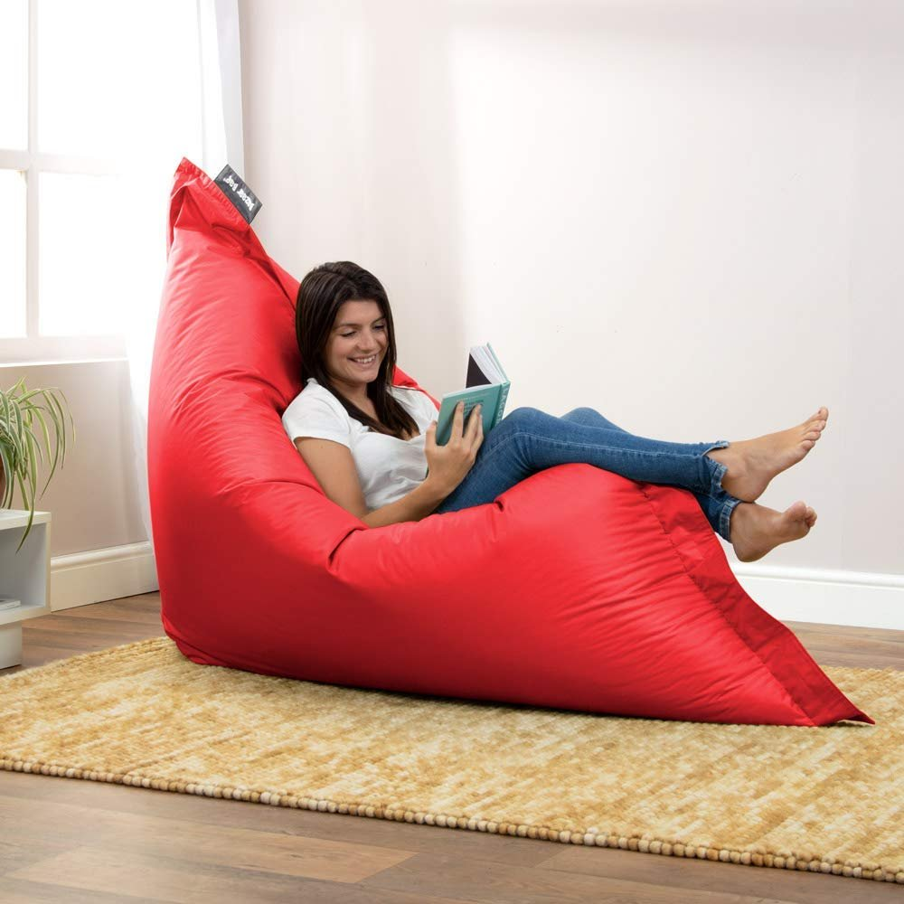 Giant Bean Bag Chair (Red) 180cm x 140cm, Large Indoor Living Room Gamer Bean Bags