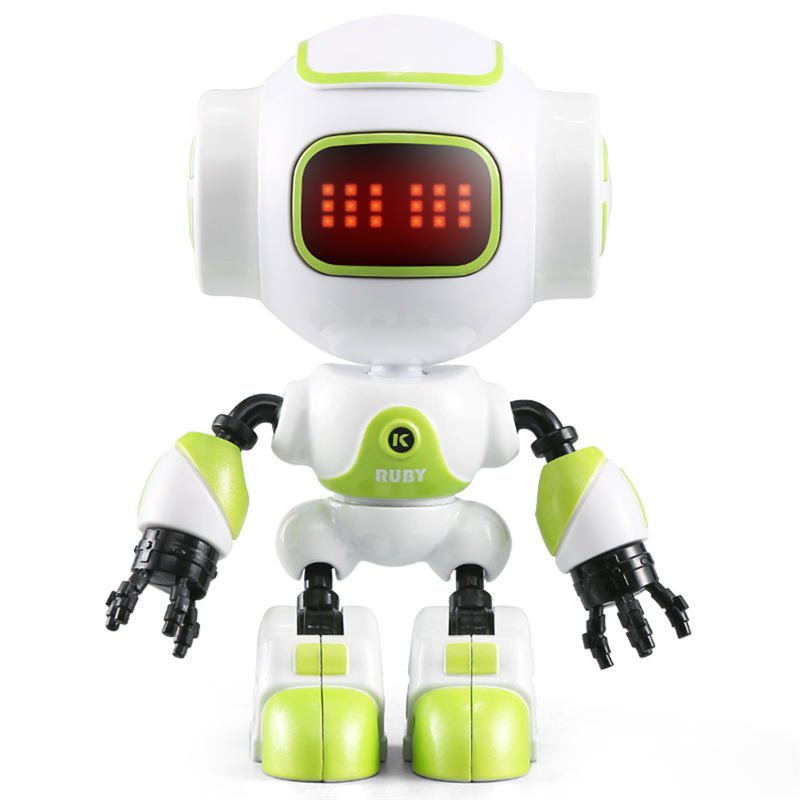 JJRC R9 RUBY Touch Control DIY Gesture Mini Smart Voiced Alloy Robot  Green