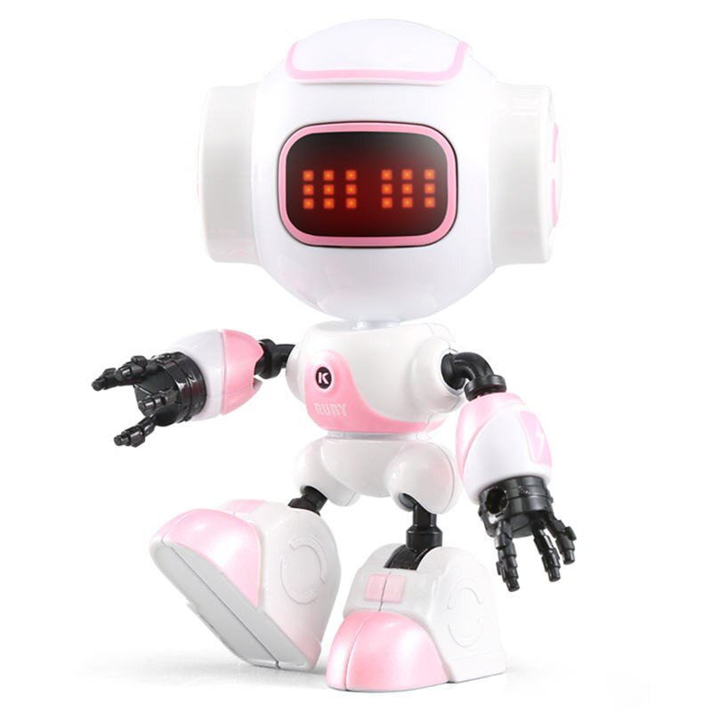 JJRC R9 RUBY Touch Control DIY Gesture Mini Smart Voiced Alloy Robot  Pink