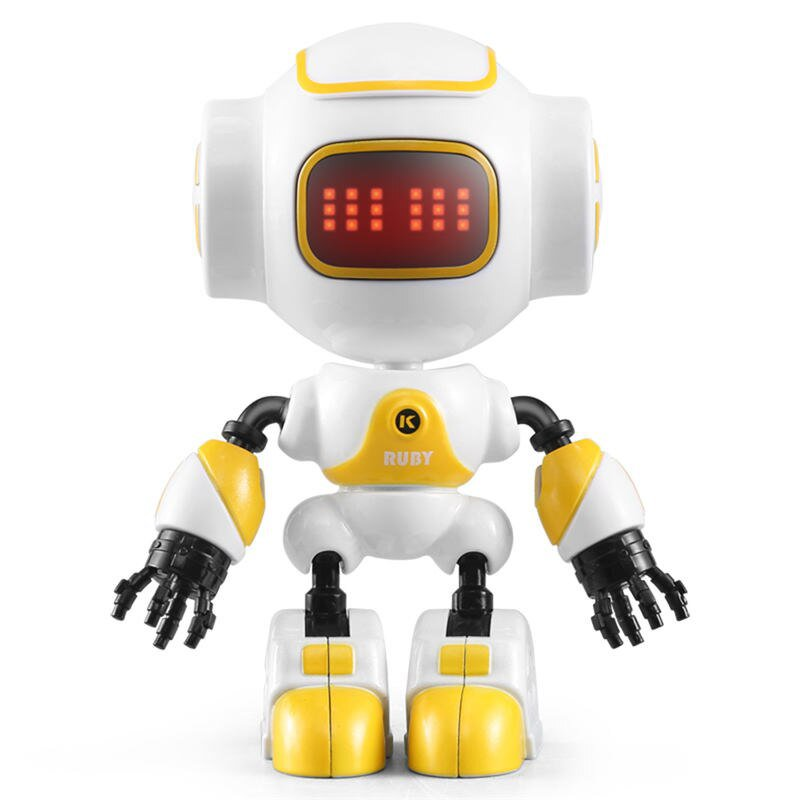 JJRC R9 RUBY Touch Control DIY Gesture Mini Smart Voiced Alloy Robot Yellow,