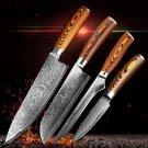4 pcs Kitchen Knives Japane Damascus Steel Knife