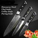 High qualityDamascus kitchen knife 3 Pcs