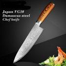 "8"" inch kitchen knife damascus Japanese vg10 chef knife"