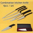 Multi Kitchen knives 4pcs/set camping stainless steel Knife Set