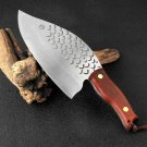 Handmade Forged Clad Steel Kitchen Knife 845 g