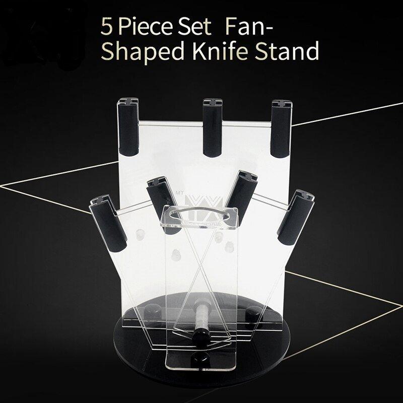 5 pcs Ceramic Knife Storage  Tool Holder Transparent