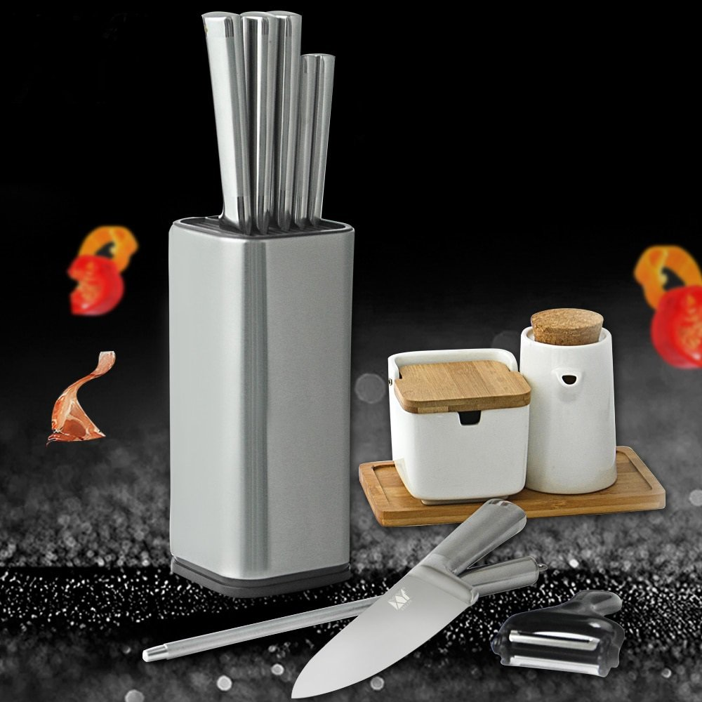 Stainless Steel Kitchen Knife Stand Tool Holder