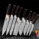 8 pcs Feather Pattern Stainless Steel Knife Kitchen Knife