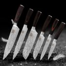 6 pcs Feather Pattern Stainless Steel Knife Kitchen Knife
