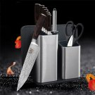11 pcs Feather Pattern Stainless Steel Knife Kitchen Knife with Knife Holder