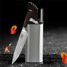 8 pcs Feather Pattern Stainless Steel Knife Kitchen Knife with Knife Holder