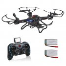 F181C RC Drone 720P 2pc Battery HD Camera RTF 4GB TF Altitude Hold Headless Mode One Key