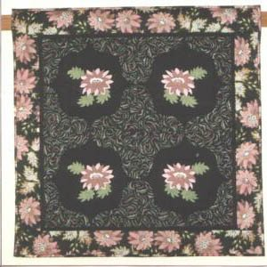 Flowers at Midnight Quilt Pattern by Priceless Pieces