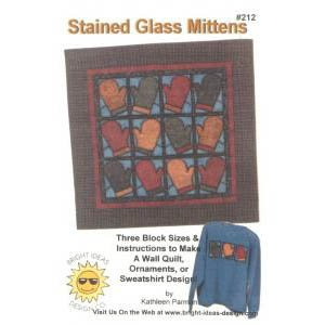 Stained Glass Mittens Quilt Pattern by Bright Ideas