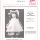 RP-2417 Authentic Reproduction of Period Costume Doll Clothes Pattern