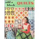 Add A Block Quilt Booklet  No. 131