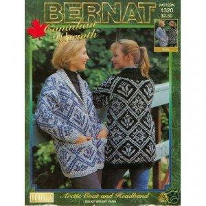 Bernat Knit Artic Coat & Headband Pattern