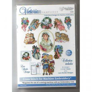 Victorian Samplings Embroidery Designs on CD from the Vermillion Stitchery