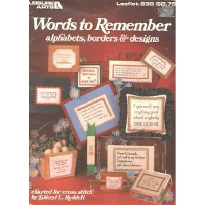 Words to Remember for Cross Stitchers