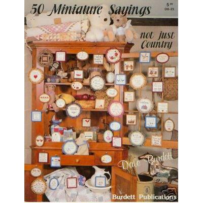 50 Miniature Sayings - Cross Stitch