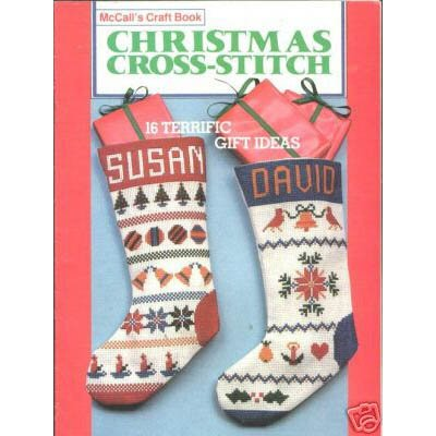 McCall's Christmas Cross Stitch Pattern Leaflet