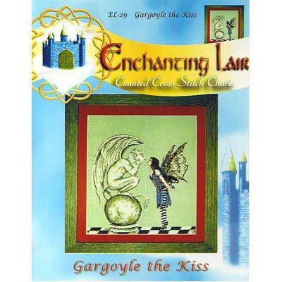 NEW !! Gargoyle The Kiss - Cross Stitch Pattern