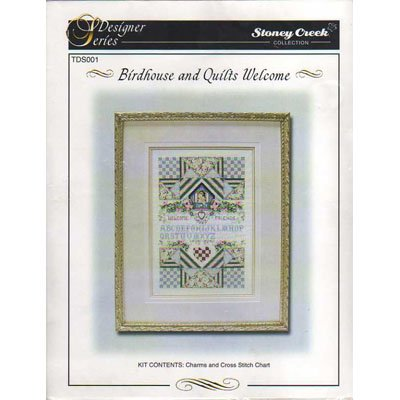 NEW !! Birdhouse and Quilts Welcome - Cross Stitch Pattern